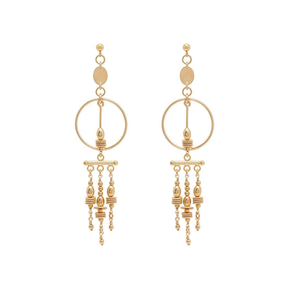 Holly Earrings Gold