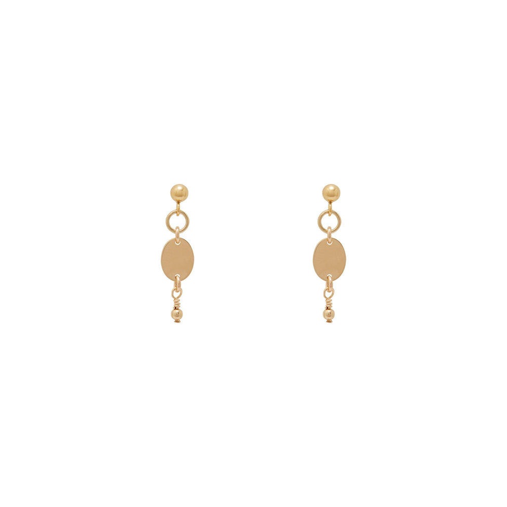 Thalia beaded Earrings Gold
