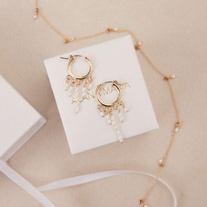 Load image into Gallery viewer, Consie Freshwater Pearl Earrings Gold