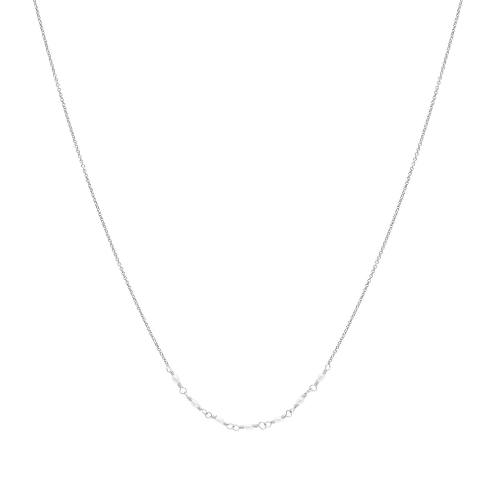 Emme Freshwater Pearl Necklace Sterling silver