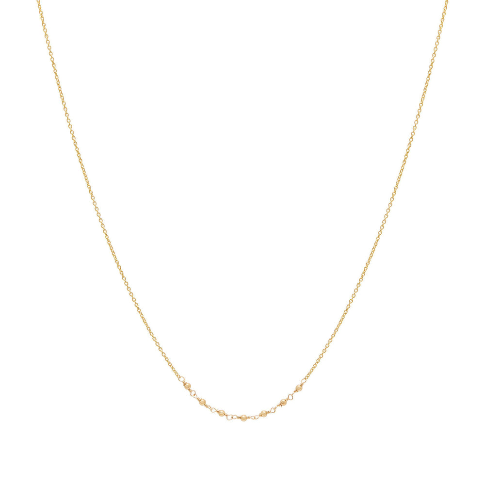 Emme Beaded Necklace Gold
