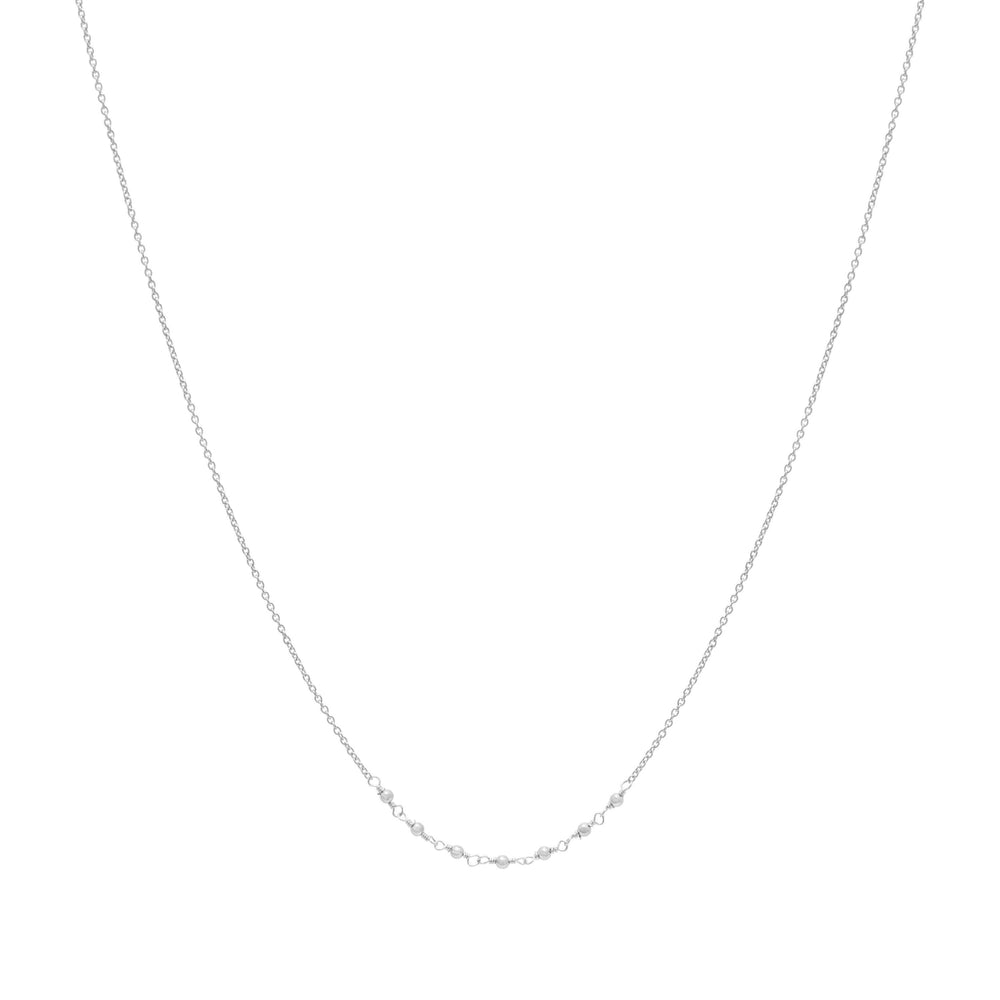 Emme beaded Necklace Sterling silver