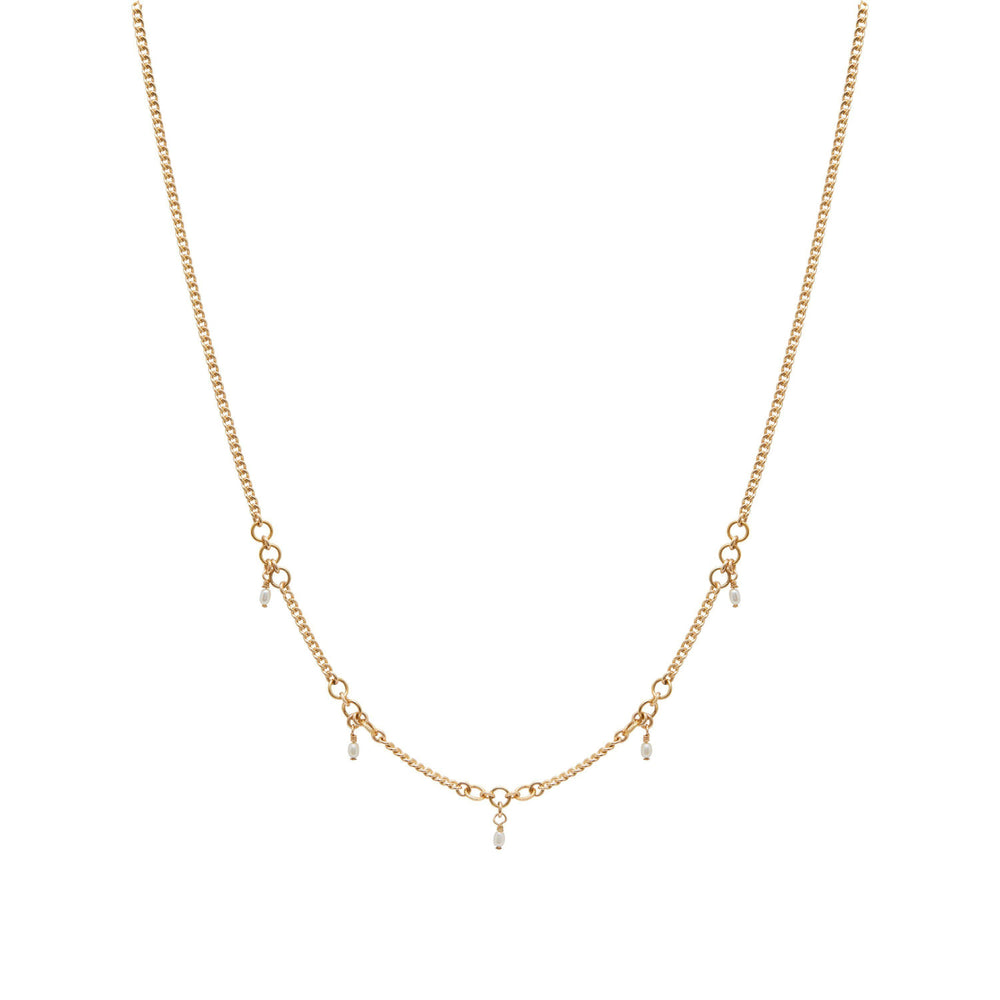 Load image into Gallery viewer, Magali Freshwater pearl Necklace Gold