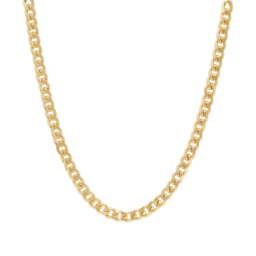 Thick Curb Chain Necklace Gold