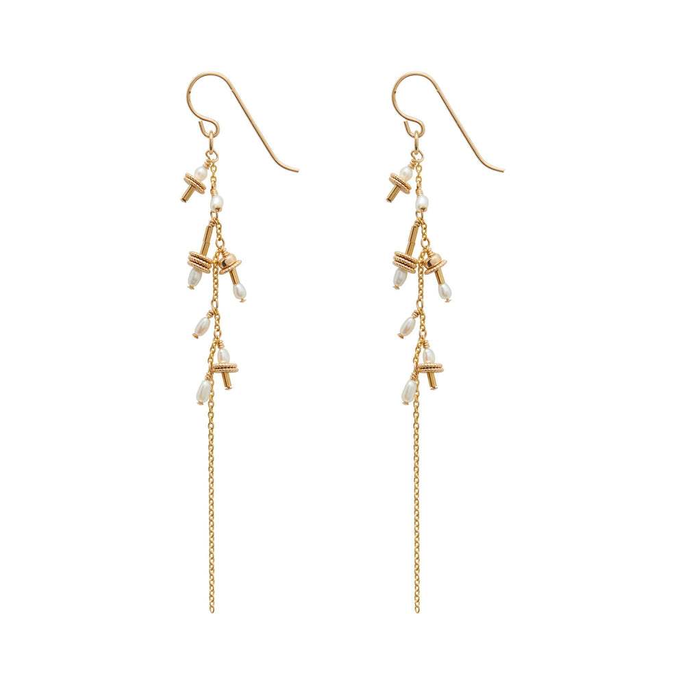 Auralie Freshwater pearl Earrings Gold