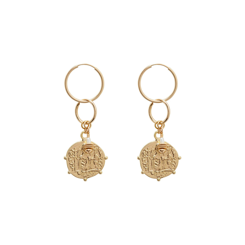 Load image into Gallery viewer, Argo Freshwater Pearl Earrings Gold