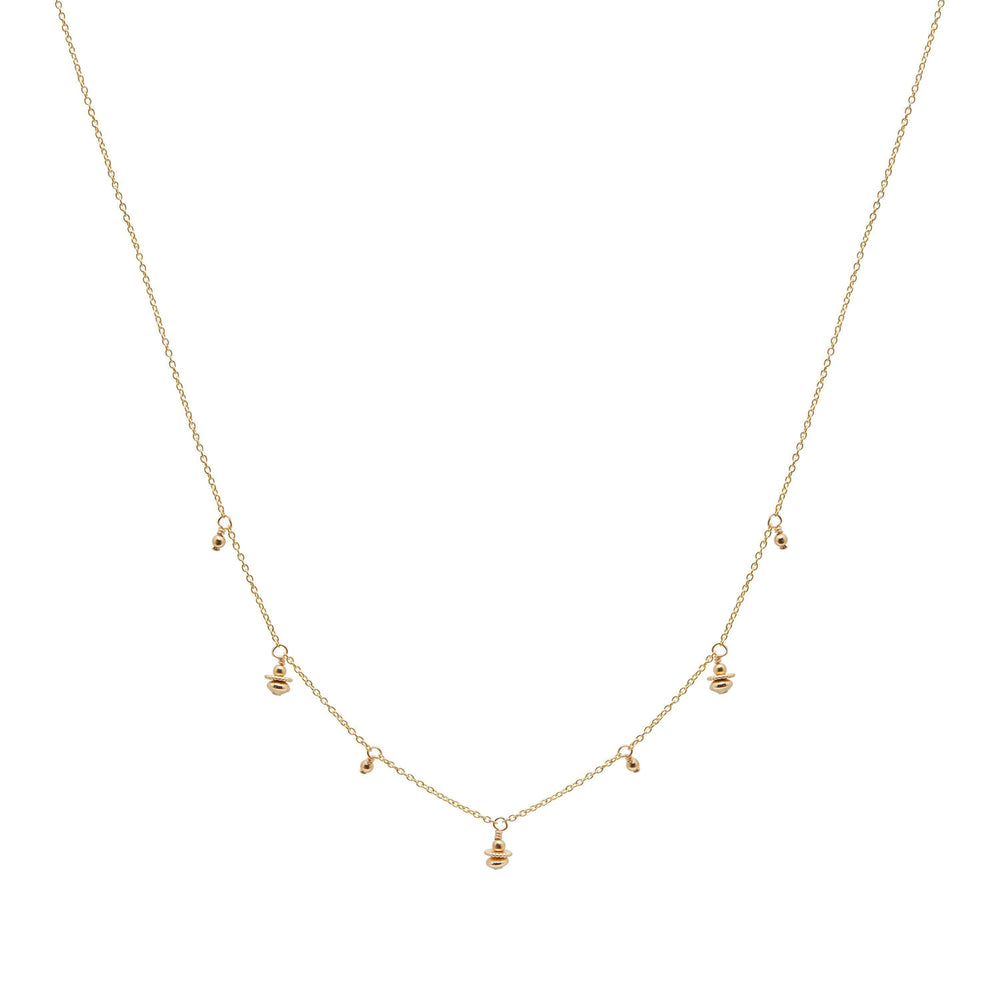 Tullie Beaded Necklace Gold