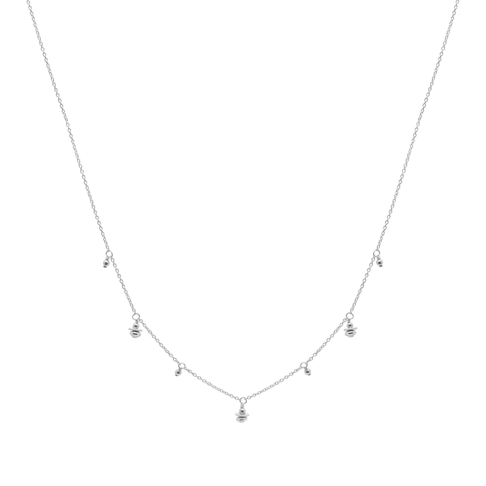 Tullie beaded Necklace Sterling silver