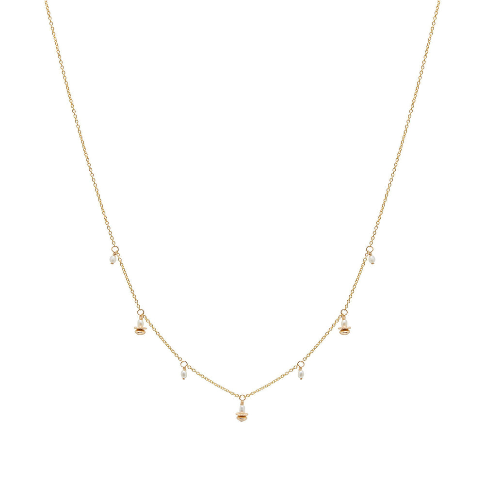 Tullie Freshwater Pearl Necklace Gold