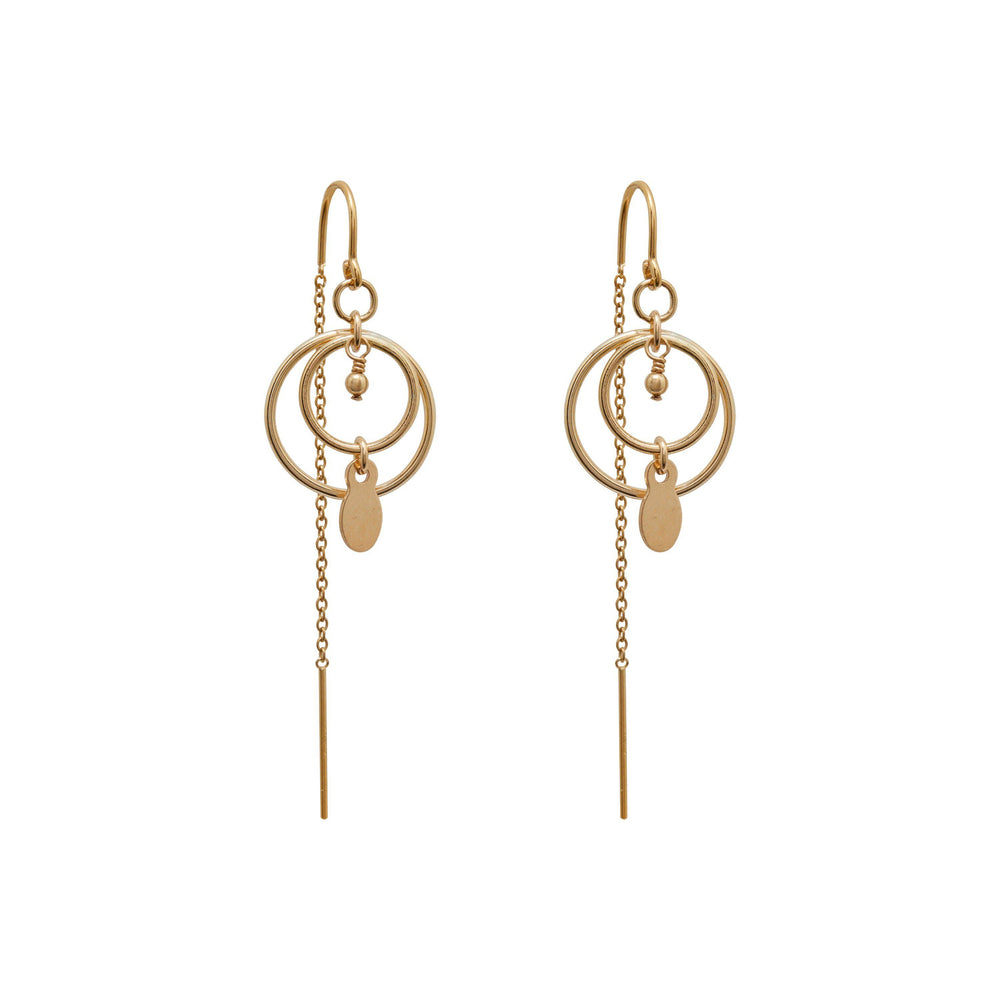 Lela Beaded Earrings Gold