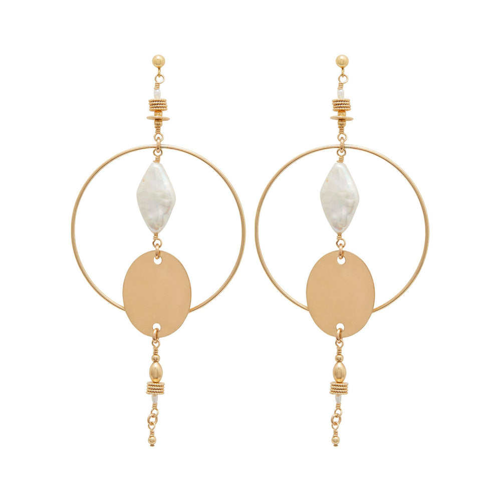 Load image into Gallery viewer, Linna Earrings Gold