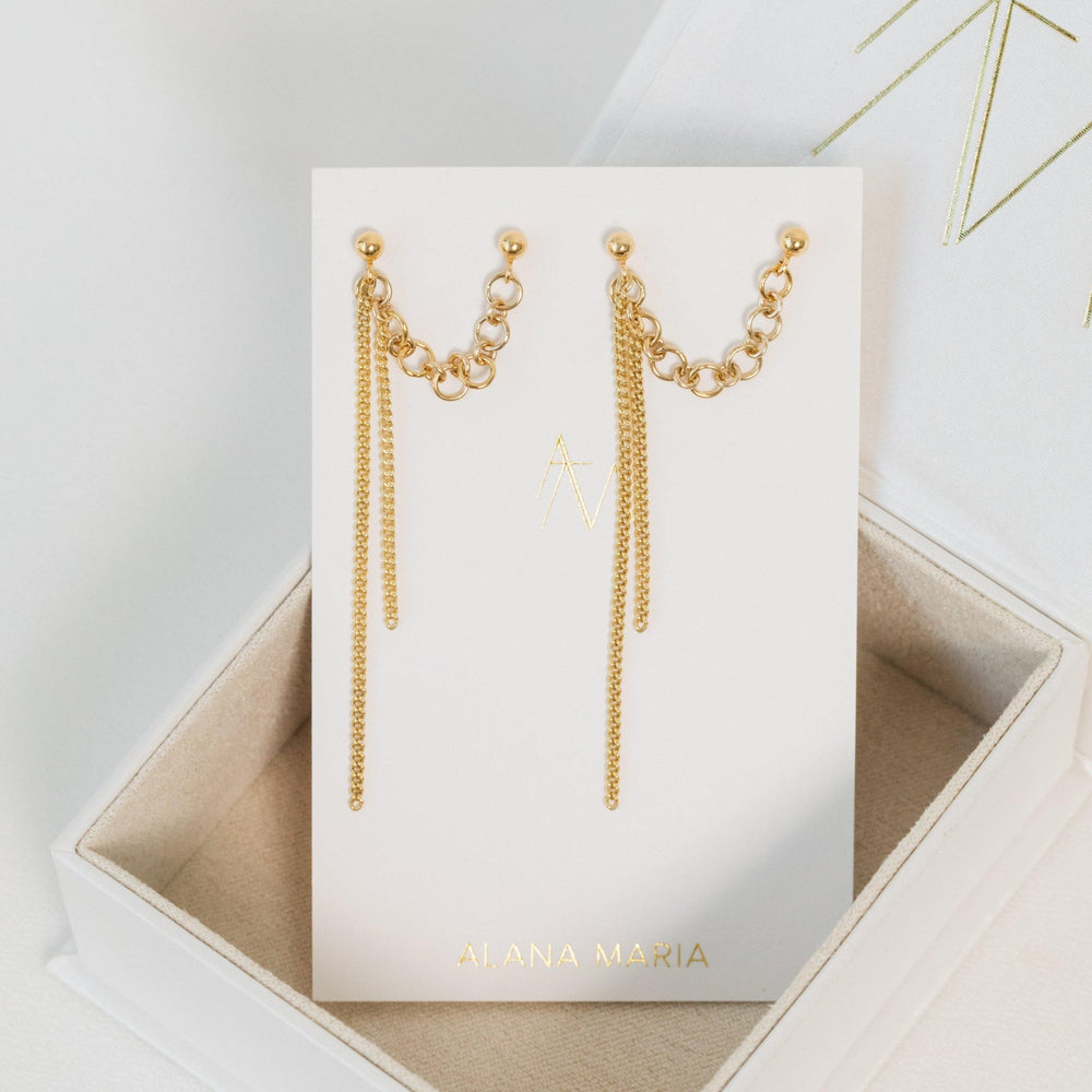 Load image into Gallery viewer, Acler Earrings Gold