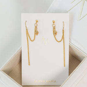Load image into Gallery viewer, Clio Earrings Gold
