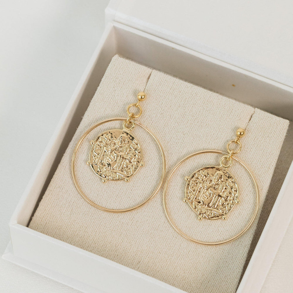 Load image into Gallery viewer, Norcia Earrings Gold