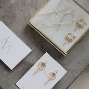 Load image into Gallery viewer, Xire Earrings Gold