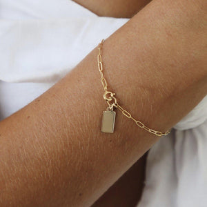 Rectangle disc Bracelet