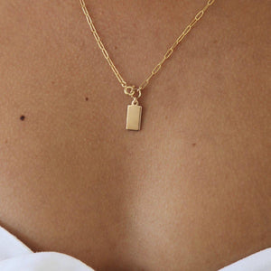 Load image into Gallery viewer, Rectangle disc Necklace