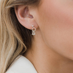 Load image into Gallery viewer, Mila Beaded Sterling Silver Earrings
