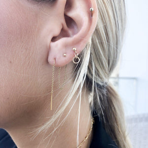 Double thread stud Earrings