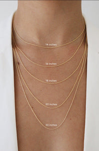 Rectangle disc Necklace