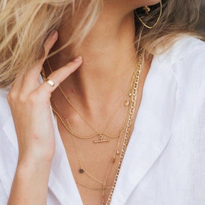 Anchor Chain Necklace Gold