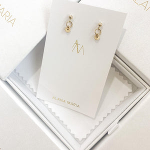 Load image into Gallery viewer, Caia Earrings Gold