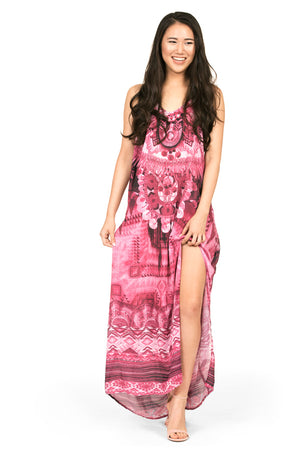 Maxi dress by Kalisi, inspired by Peru, the Incan moon goddess and our playful nature.