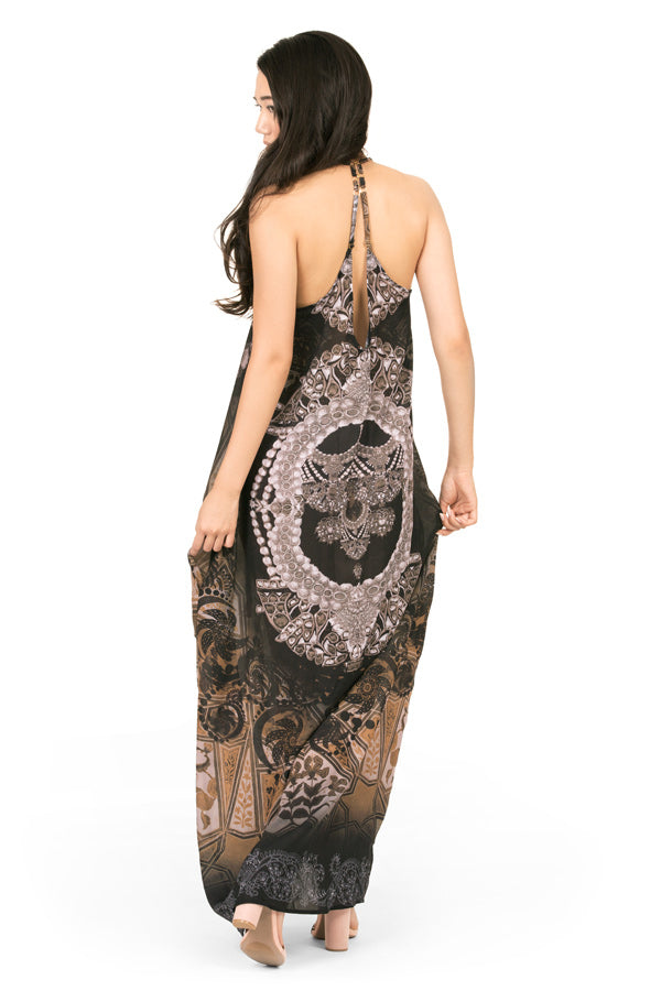 Maxi dress by Kalisi, inspired by India, yoga, hinduism and henna.