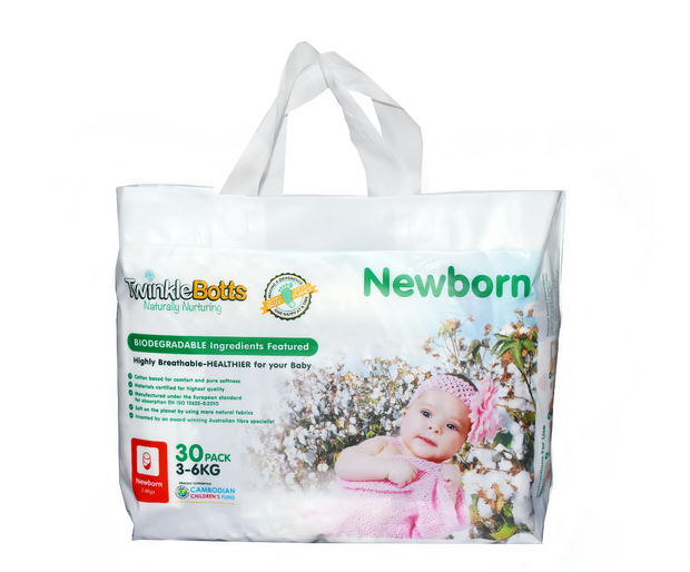 Newborn Nappy(3-6 Kg) - Twinklebotts