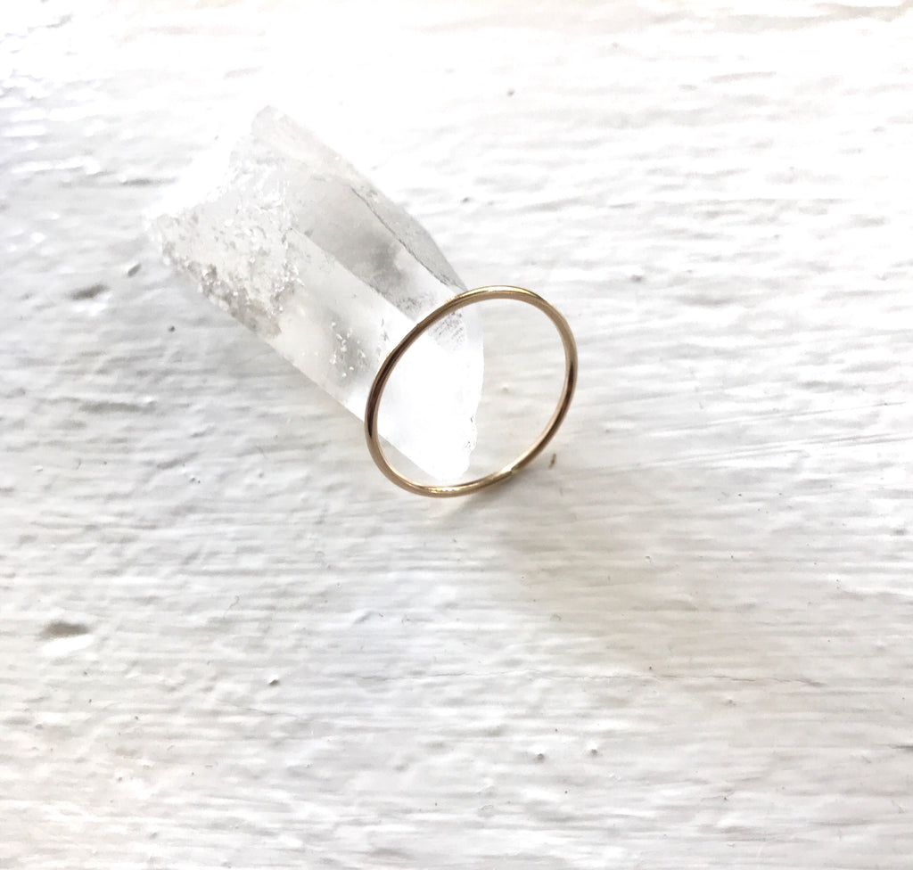 Dainty 14k gold-filled stacking ring