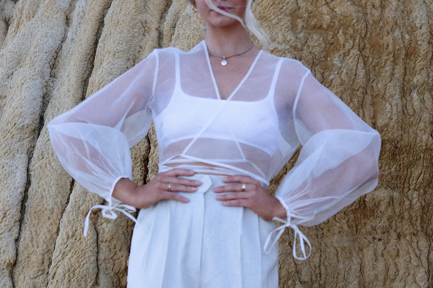 Silk Organza Wrap Top