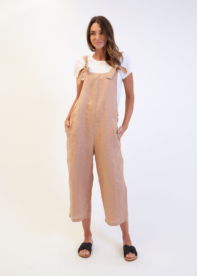 INCA JUMPSUIT - Clay Linen