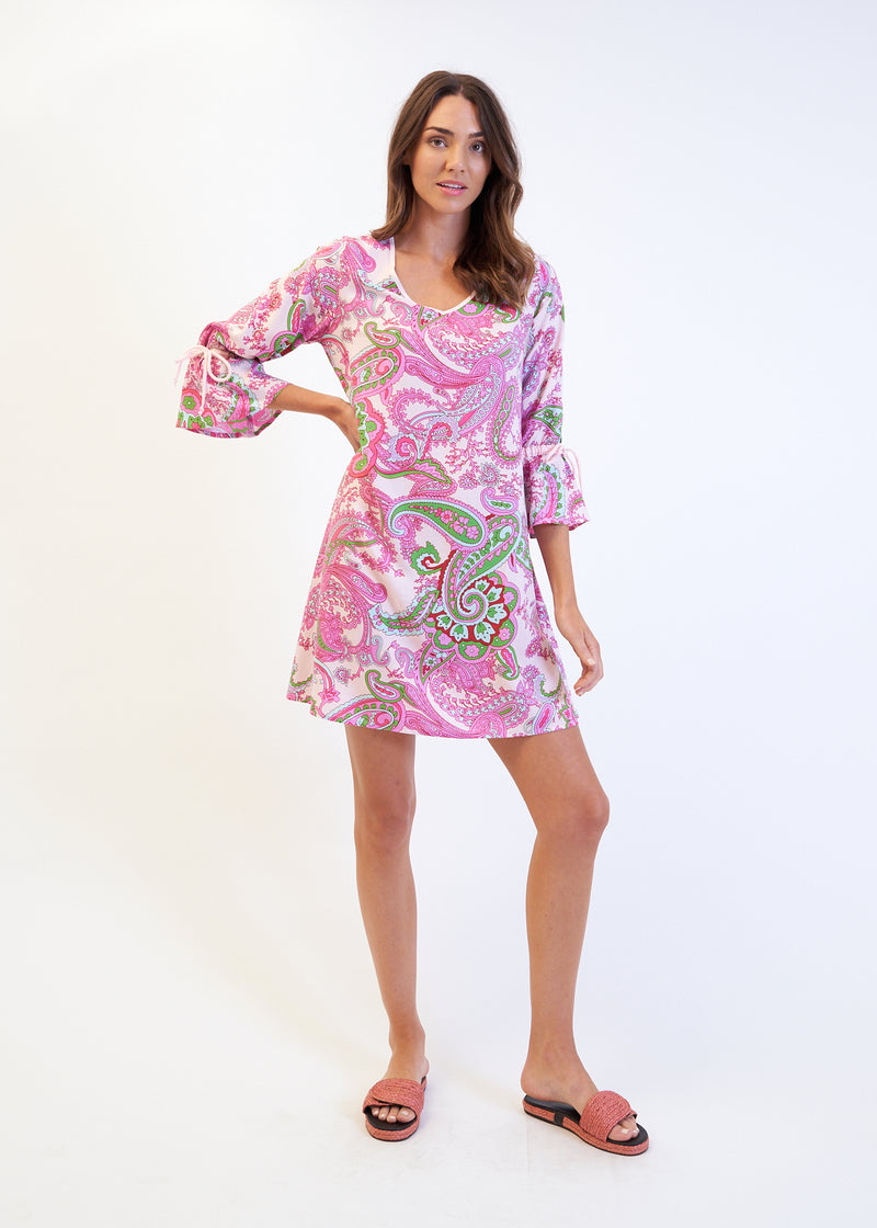 FIESTA SWING DRESS - PINK