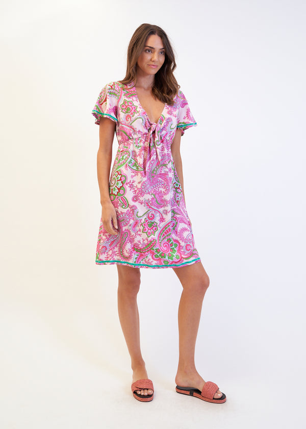 TIE MATILDA DRESS - PINK