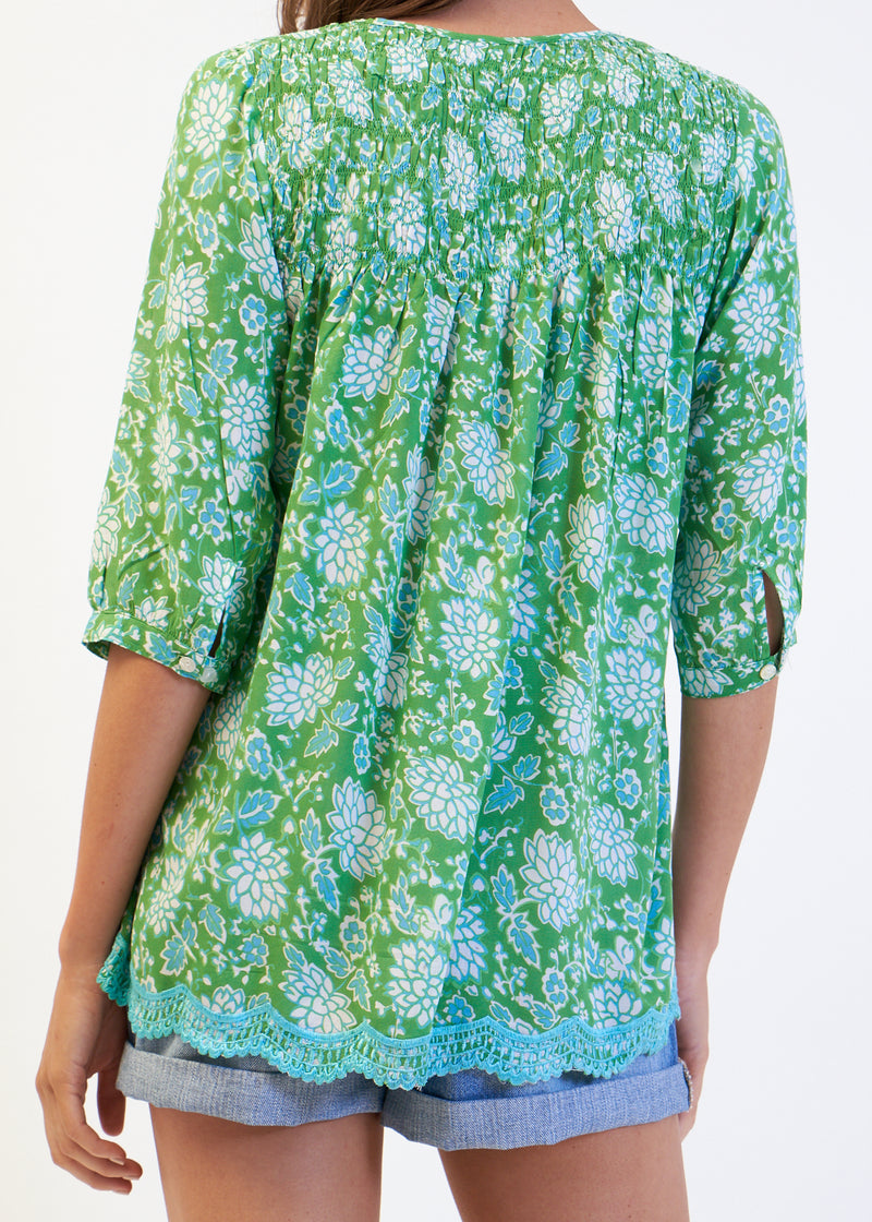 MOLLY TOP - GREEN