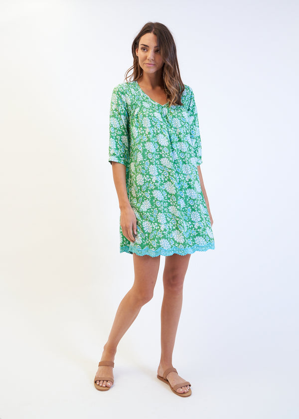 MOLLY DRESS - GREEN