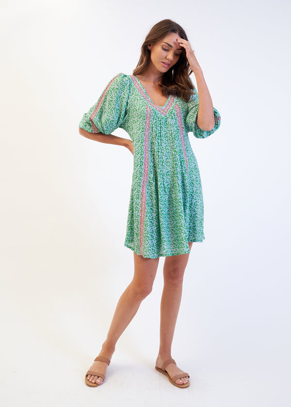 SASA DRESS - GREEN