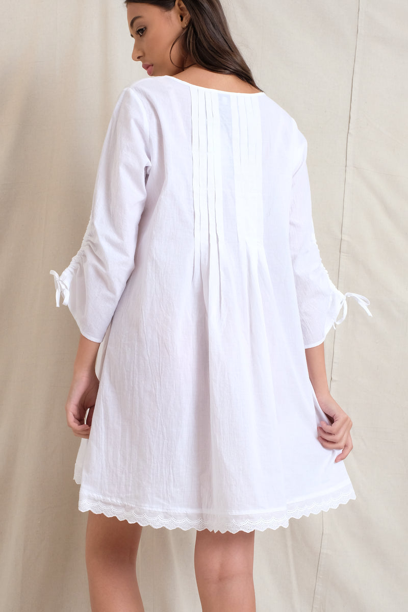 BETSY DRESS - White