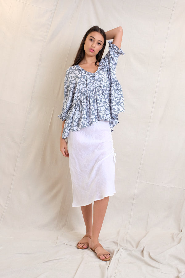 ETTA BLOUSE - Grey