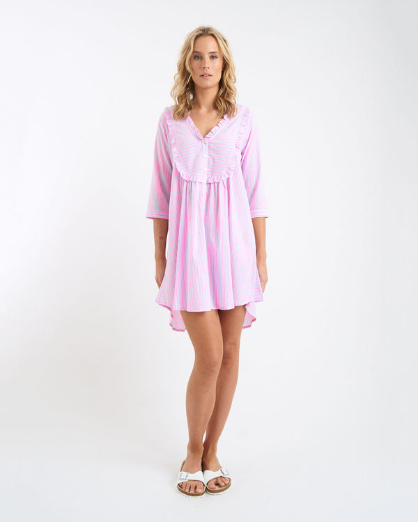 JULIE SHIRT DRESS - PINK