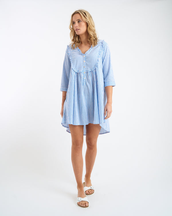 JULIE SHIRT DRESS - BLUE