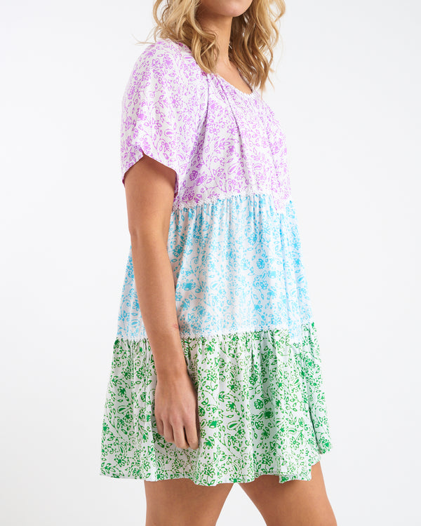 SUMMER PATCHWORK DRESS - SHORT SLEEVE