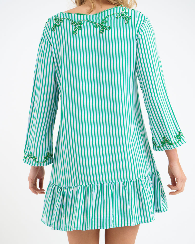 ROCCO RUFFLE DRESS - GREEN