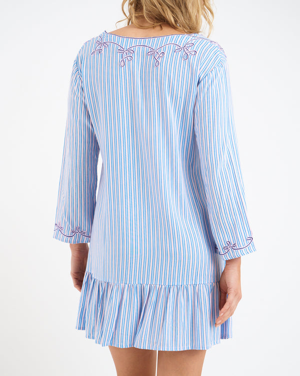 ROCCO RUFFLE DRESS - BLUE