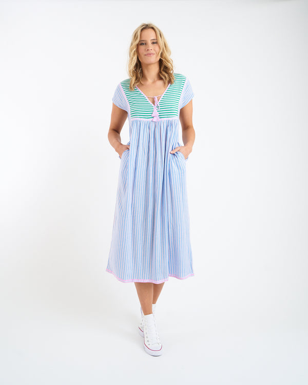 UMA MIDI DRESS - BLUE