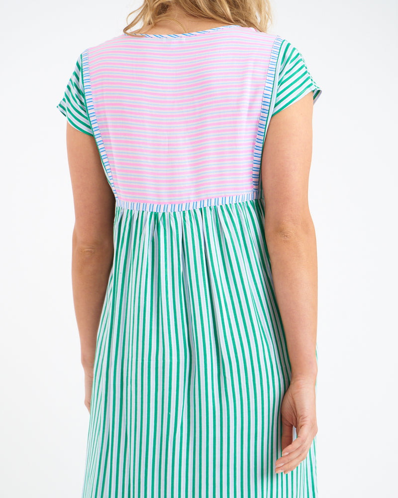 UMA MIDI DRESS - GREEN