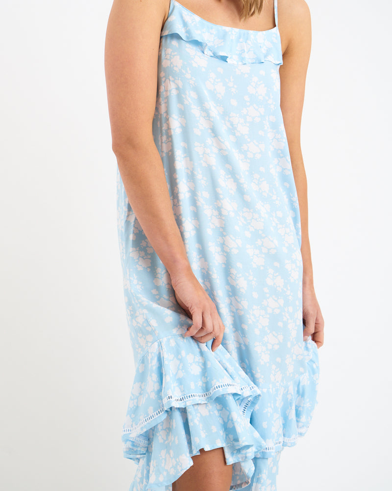 INES DRESS - PALE BLUE
