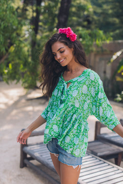 LOTUS BLOUSE - GREEN