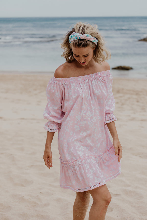 ELSA FOLK DRESS - Pale Pink