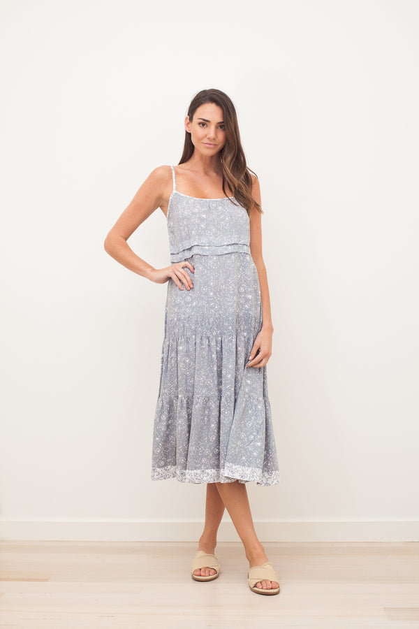 TASH MIDI DRESS - Grey